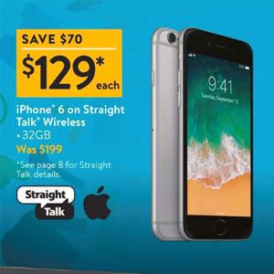 沃尔玛黑五iphone SE/6价格不错