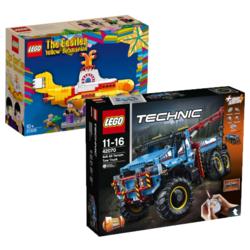 LEGO乐高 TECHNIC 42070 6X6全时驱动卡车+IDEALS 21306 黄色潜水艇
