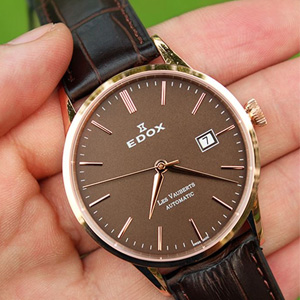 Edox依度Les Vauberts系列80081-37R-BRIR自动机械男表