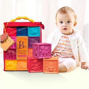 B.Toys 数字浮雕软积木玩具 牙胶*2件