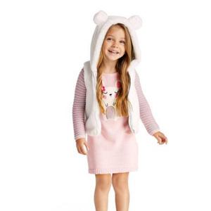 补货!Gymboree金宝贝小老鼠图案女童毛线连衣裙