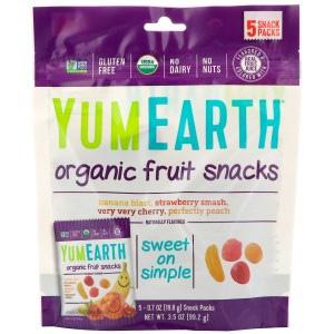 YumEarth水果软糖5小包装 什锦口味