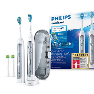 Philips飞利浦 FlexCare系列 HX9114/37 白金级超声波电动牙刷2只装