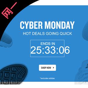 FinishLine网一精选男女鞋服低至6折+额外7.5折促销