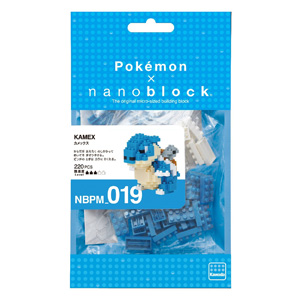 Kawada NBPM-019 Nanoblock 纳米块 口袋妖怪系列 水箭龟