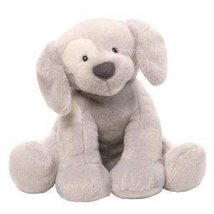 Gund Spunky 灰色小狗 发条音乐毛绒玩具 20cm