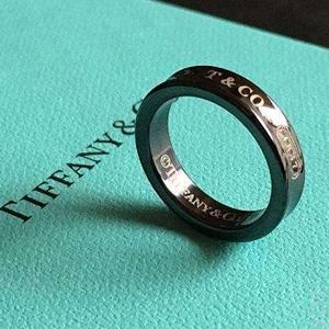 TIFFANY&Co. 蒂芙尼 1837系列 午夜黑钛金戒指