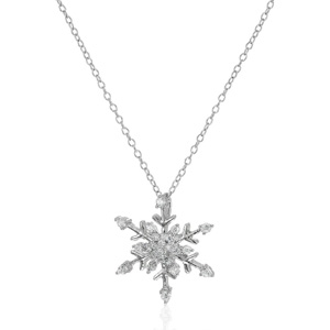Amazon Collection 925纯银 立方锆石雪花项链