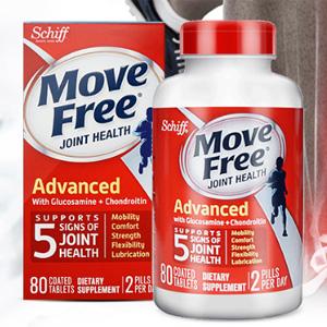 Schiff Move Free氨糖维骨力 氨糖软骨素片红瓶 80粒