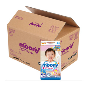 moony尤妮佳 婴儿纸尿裤 L54片 *6件