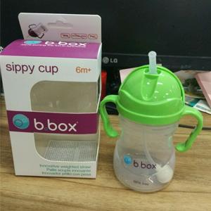 B.box 婴幼儿重力球吸管杯 防漏 240ml 苹果绿