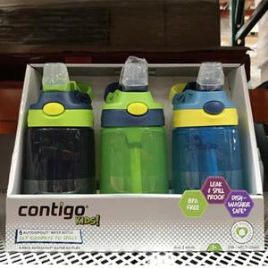 Contigo康迪克 防漏儿童吸管杯 414ml*3个装 两款
