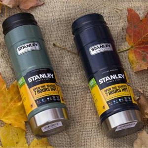 Stanley史丹利 一键式不锈钢真空保温杯 473ml 绿色款