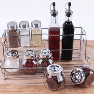 BJ拜杰 透明玻璃调味罐套装 11件套