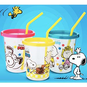 SKATER斯凯达 Snoopy 儿童随手吸管杯 3个装