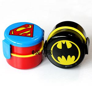 SKATER 圆形便当盒 500ml 蝙蝠侠/超人款