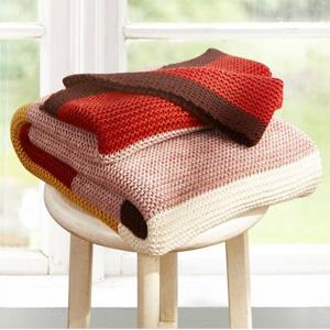 罗莱家纺 HOME-Q952 百搭条纹针织毯 130*160cm