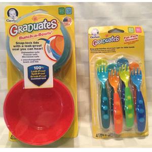 Gerber嘉宝 宝宝学习 叉勺组8件套 / 碗8件套