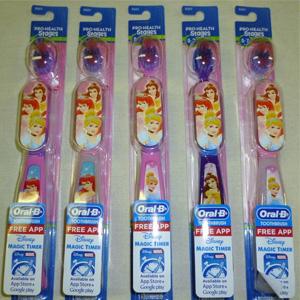 Oral-B迪斯尼公主儿童牙刷 6支装