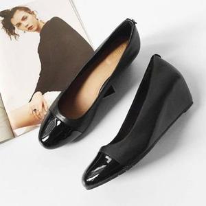 Clarks其乐 Vendra Dune女士真皮坡跟单鞋