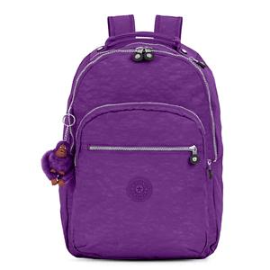 Kipling 吉普林Seoul 系列大号时尚双肩背包 紫色