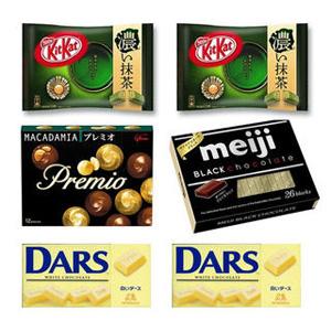 Glico 格力高 Premio+Nestlé 雀巢 KitKat+meiji 明治+Morinaga 森永巧克力套装