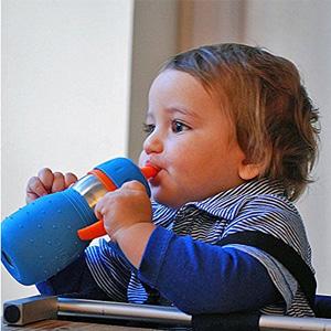Kid Basix安思培不锈钢两用学饮杯/吸管杯 330ml