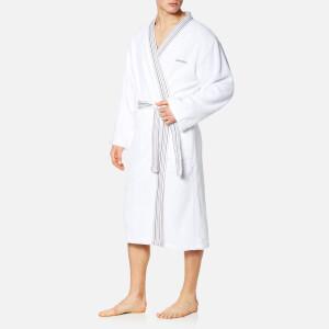 限L码!Calvin Klein男士白色纯棉浴袍