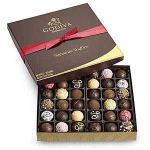 欢乐颂同款!Godiva歌帝梵 松露巧克力丝带礼盒 24颗