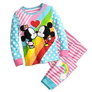 Disney迪士尼 米奇&米妮图案女童睡衣 2件式