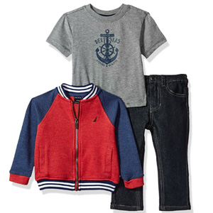 Nautica诺帝卡 男童3件套(卫衣+短袖T恤+牛仔裤)12个月