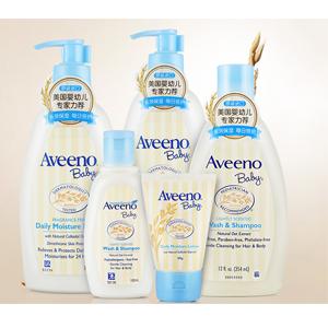 Aveeno艾维诺 婴儿每日倍护润肤乳(354ml*2+30ml)+二合一沐浴液(354ml+100ml)套装