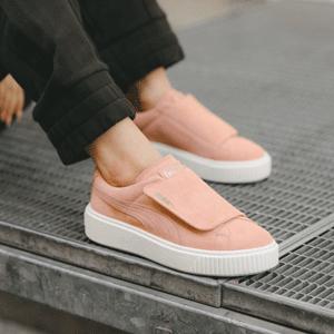 Puma彪马Suede Platform Strap经典系列厚底大魔术贴女士板鞋