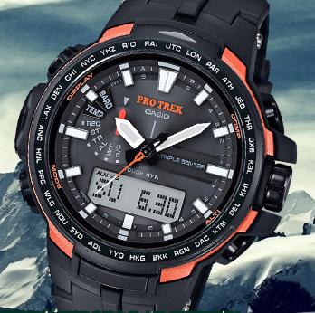 CASIO卡西欧 PROTREK系列 PRW-6100Y-1 太阳能电波登山腕表