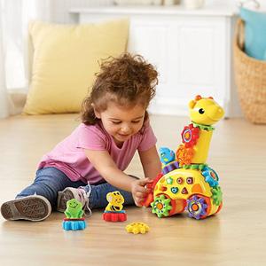 VTech伟易达 GearZooz 长颈鹿双语旋转齿轮玩具
