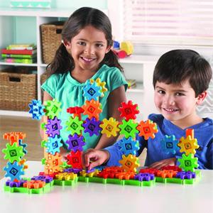 Learning Resources初学者100片益智齿轮玩具套装