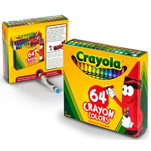 Crayola绘儿乐 彩色蜡笔 64支*2盒