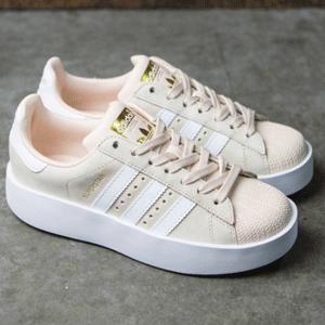 Adidas阿迪达斯Superstar Bold 女士金标贝壳头厚底鞋