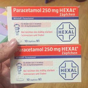 闪促2小时!HEXAL 止痛退烧栓剂 10片(2-8周岁)