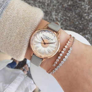Olivia Burton 2017款小雏菊浮雕女士手表