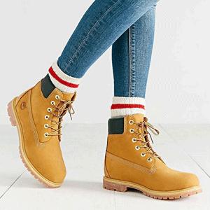 限39.5码!Timberland天木兰6寸 Premium WP Boot 大童款防水经典工装靴