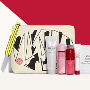 nordstrom有Shiseido 最高送价值$200超值大礼包