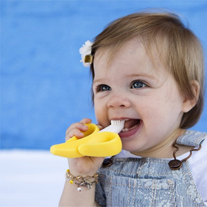 凑单品!BABY BANANA香蕉宝宝 硅胶婴儿牙胶牙刷