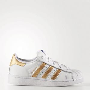 adidas阿迪达斯 Superstar 中童金标贝壳头