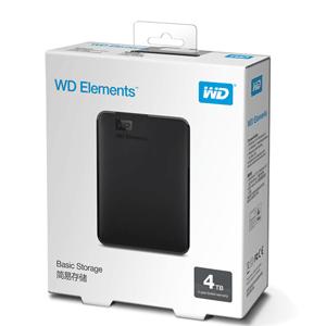 WD西部数据 Elements 新元素系列 2.5英寸 USB3.0 移动硬盘 4TB