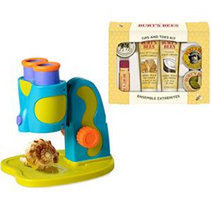 组合无税!Educational Insights 儿童显微镜+Burt's Bees 护肤6件套