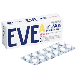 白兔制药 EVE A锭 去头痛片 60粒