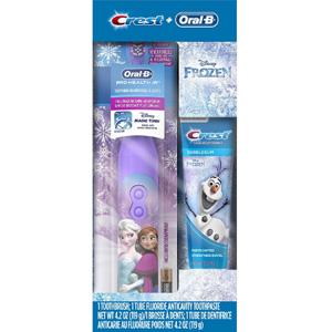 【断货】Oral-B 冰雪奇缘 儿童电动牙刷牙膏套装