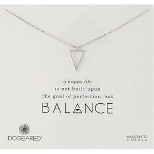Dogeared朵吉兒 Balance银质三角锁骨项链