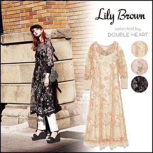 2018新品 Lily Brown LWFO181120 花朵款 刺绣薄纱连衣裙 三色可选